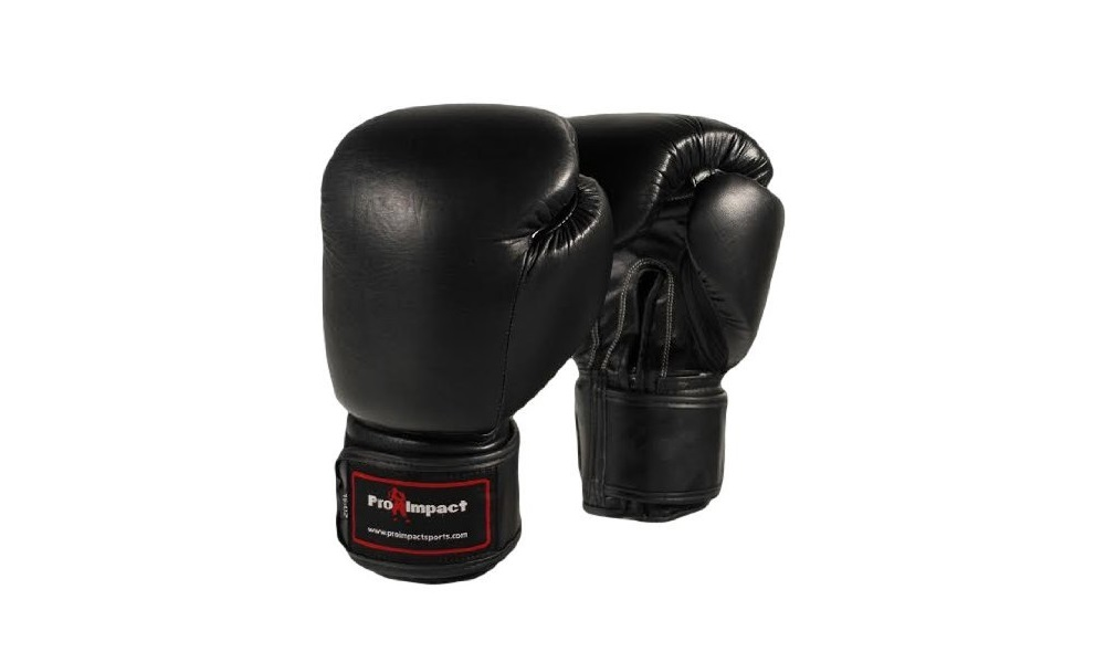 Genuine Leather Boxing Gloves Black 16 Oz. Pro Impact Review